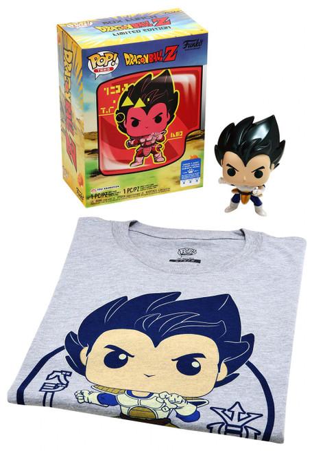 Funko Dragon Ball Z POP! Animation Vegeta Exclusive Vinyl Figure & T-Shirt [Large]