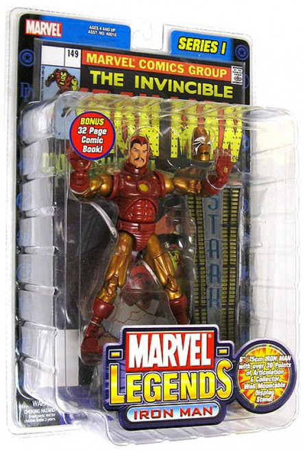 Marvel Legends Iron Man Action Figure [Gold & Red Armor, Damaged Package]