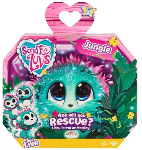 Little Live Pets Scruff A Luvs Jungle Plush Surprise Rescue Pet [Green]