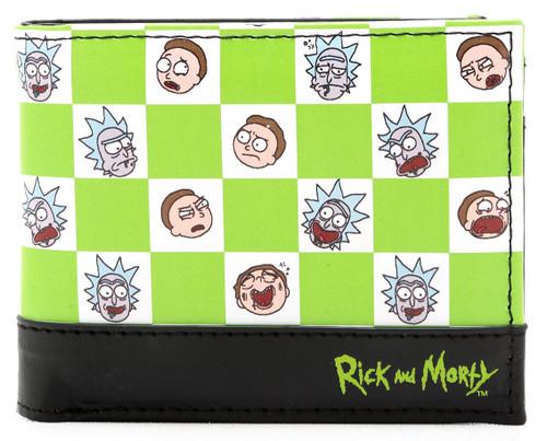Rick & Morty Checkered Bi-Fold Wallet