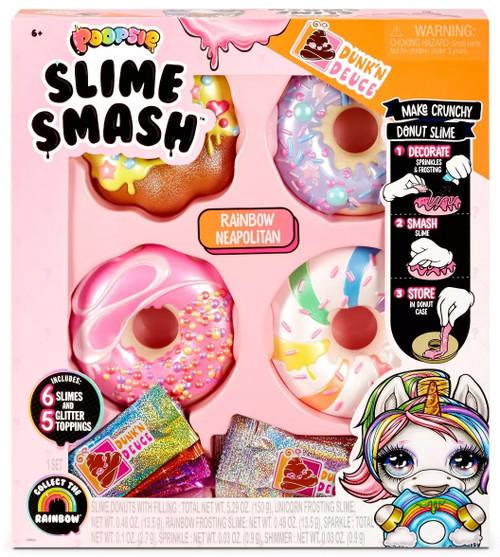 Poopsie Slime Surprise! Dunk'N Deuce Slime Smash Rainbow Neapolitan Slime Kit