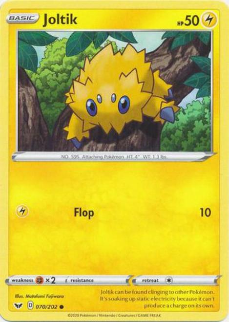 Pokemon Sword & Shield Base Set Common Joltik #70