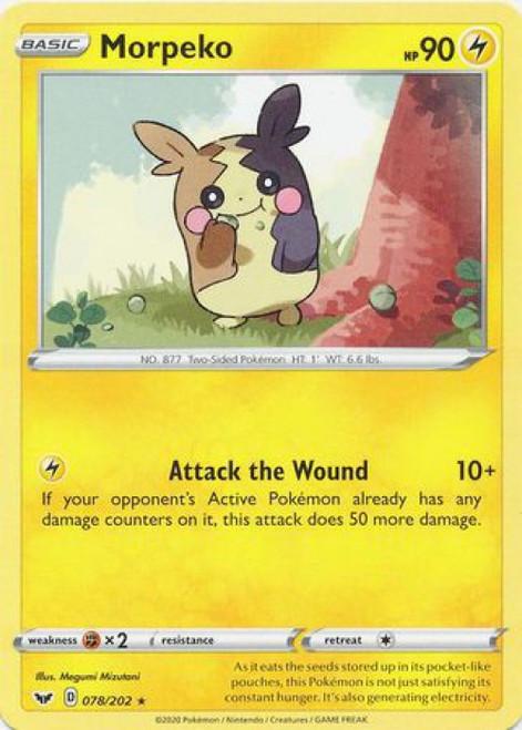 Pokemon Sword & Shield Base Set Rare Morpeko #78