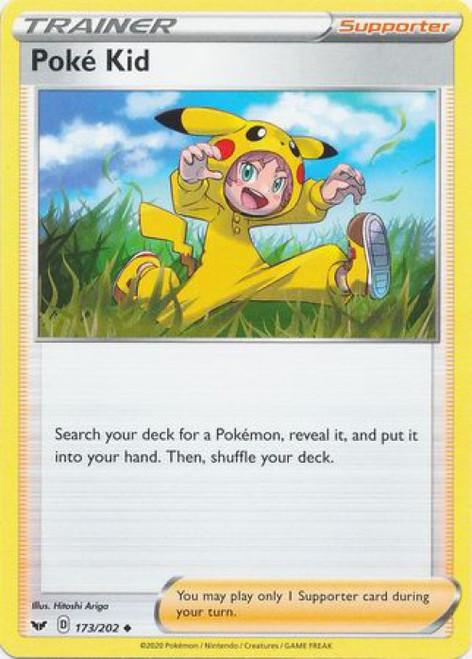 Pokemon Sword & Shield Base Set Uncommon Poke Kid #173