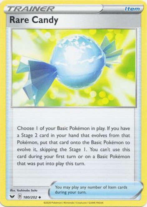 Pokemon Sword & Shield Base Set Uncommon Rare Candy #180
