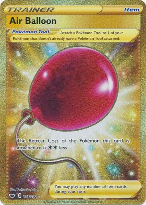 Pokemon Sword & Shield Base Set Secret Rare Air Balloon #213