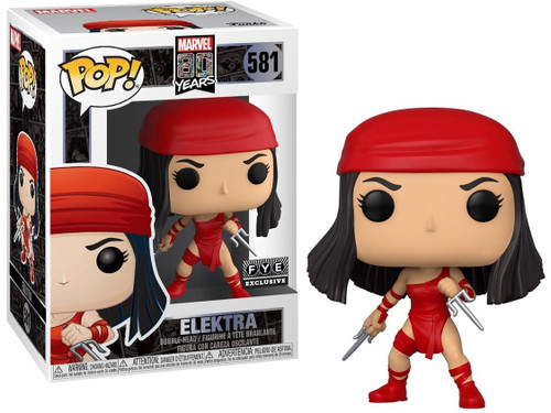 Funko 80th Anniversary POP! Marvel Elektra Exclusive Vinyl Figure #581 [First Appearance]