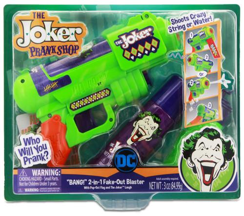 "DC Batman The Joker Prank Shop ""BANG!"" 2-in-1 Fake-Out Blaster [with Pop-Out Flag & Joker Laugh]"