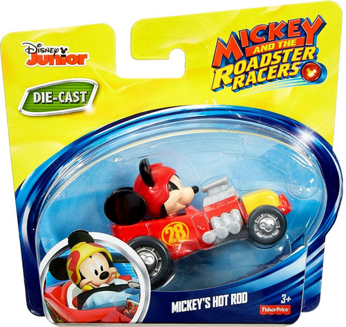 Fisher Price Disney Mickey & Roadster Racers Mickey's Hot Rod Diecast Vehicle [Loose]