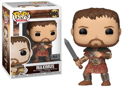 Funko Gladiator POP! Movies Maximus Exclusive Vinyl Figure #860 [Red Armor]