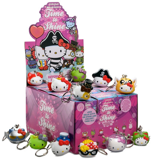 Sanrio Hello Kitty Vinyl Keychains Time To Shine 3-Inch Mystery Box [24 Packs]