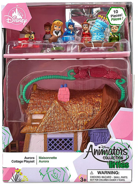 Disney Sleeping Beauty Littles Animators' Collection Aurora Cottage Exclusive Micro Playset