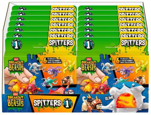 Breakout Beasts Egg Spitters Series 1 Mystery Box [16 Packs]