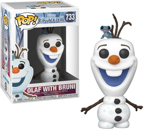 Funko Disney Frozen 2 POP! Disney Olaf with Bruni Vinyl Figure