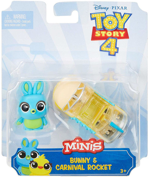 Disney / Pixar Toy Story 4 MINIS Bunny & Carnival Rocket Mini Figure & Vehicle