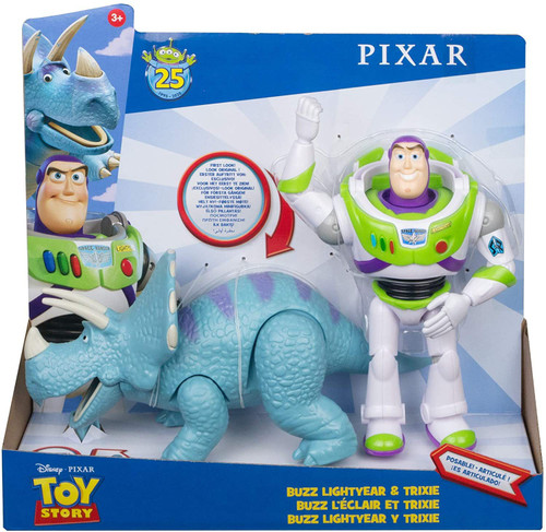 Toy Story 25th Anniversary Buzz Lightyear & Trixie Action Figure 2-Pack