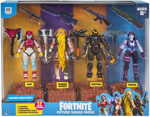 Fortnite Rox, Bunker Jonesy, Sentinel & Dream Action Figure 4-Pack