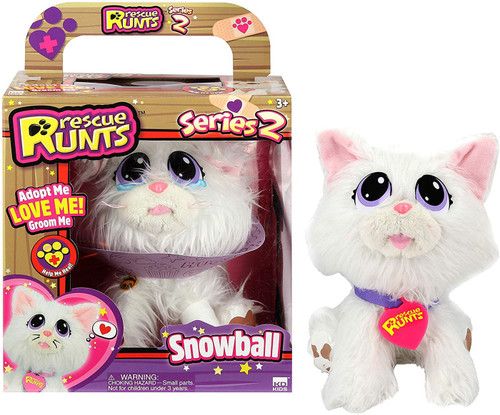 Rescue Runts Series 2 Snowball Plush Toy