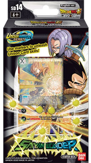 Dragon Ball Super Collectible Card Game Unison Warrior Saiyan Wonder Starter Deck ST14 [Black]