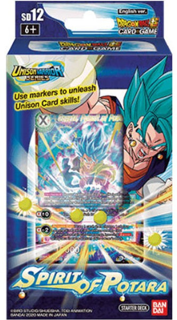 Dragon Ball Super Collectible Card Game Unison Warrior Spirit of Potara Starter Deck ST12 [Blue]