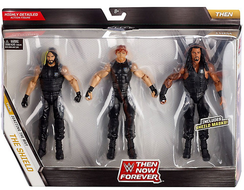 WWE Wrestling Then Now Forever Roman Reigns, Dean Ambrose & Seth Rollins Exclusive Action Figure 3-Pack [The Shield, Damaged Package]