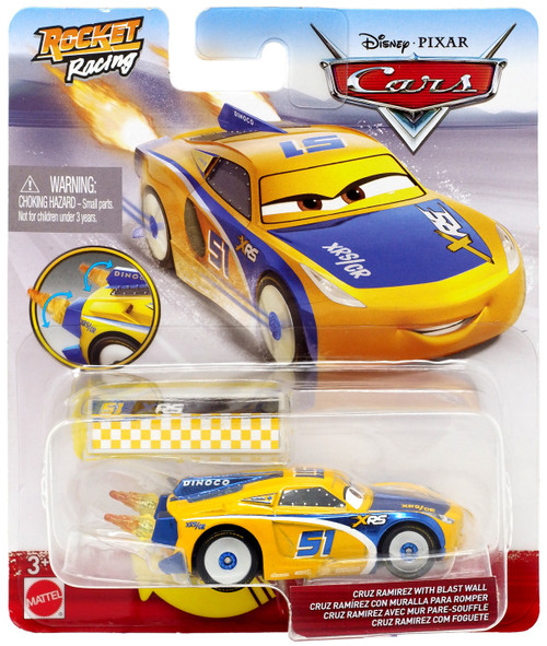 Disney / Pixar Cars Cars 3 Rocket Racing Cruz Ramirez with Blast Wall Diecast Car