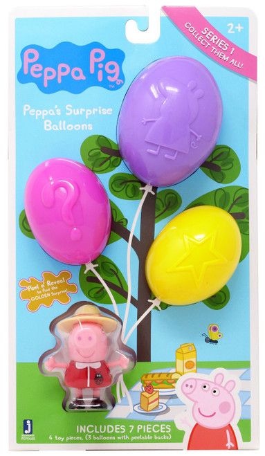 Peppa Pig Series 1 Surprise Balloons Mystery 3-Pack [Picnic]