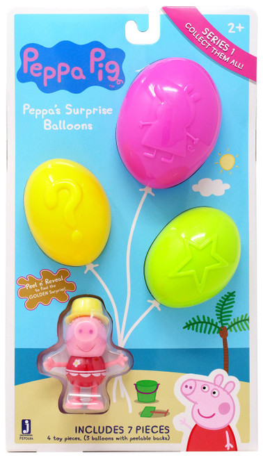 Peppa Pig Series 1 Surprise Balloons Mystery 3-Pack [Beach]