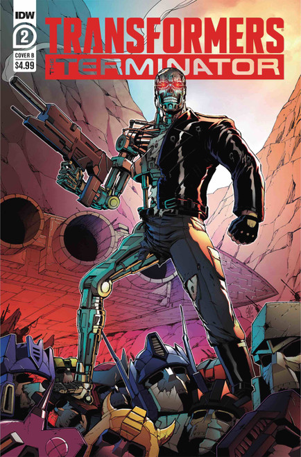 IDW Transformers Vs. Terminator #2 of 4 Comic Book [Casey Coller Variant Cover B]