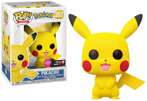 Funko Pokemon POP! Games Pikachu Exclusive Vinyl Figure #353 [Flocked]