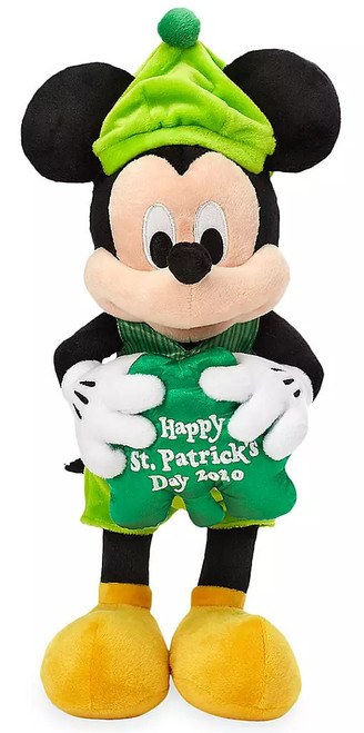 Disney St. Patrick's Day 2020 Mickey Mouse Exclusive 12-Inch Plush
