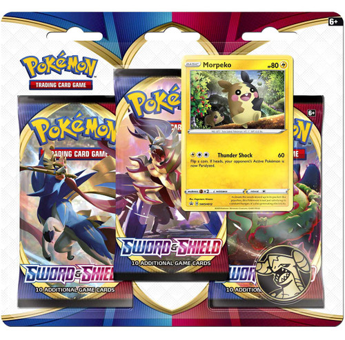Pokemon Trading Card Game Sword & Shield Morpeko Special Edition [3 Booster Packs, Promo Card & Coin]