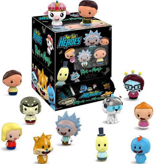 Funko Pint Size Heroes Rick & Morty Exclusive Mystery Box [24 Packs]
