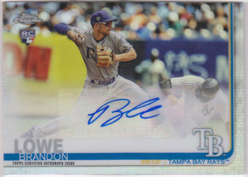 MLB 2019 Topps Chrome Update Baseball Brandon Lowe Single Sports Card CUA-BL [Autograph]