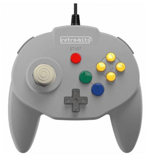 Retro-Bit Tribute64 N64 Port Tribute Nintendo N64 Controller [Classic Grey] (Pre-Order ships July)