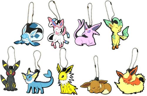 Pokemon Rubber Mascot Ver. 2 Keychain Set