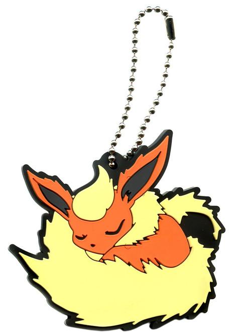 Pokemon Rubber Mascot Ver. 2 Flareon Keychain