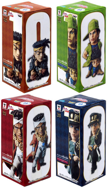 WCF World Collectable Figure Vol. 6 WCF Jojo's Bizarre Adventure 2.8-Inch Set of 4 PVC Figures