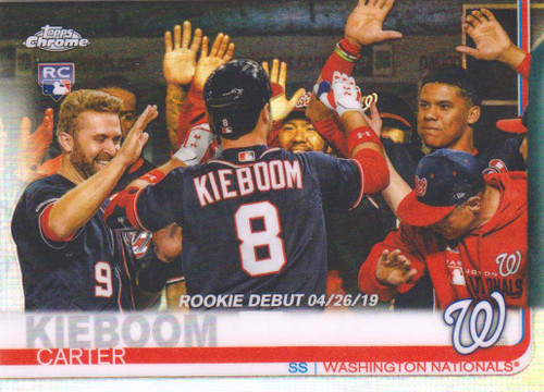 MLB 2019 Topps Chrome Update Baseball Carter Kieboom Single Sports Card #59 [Rookie Debut #242/250]