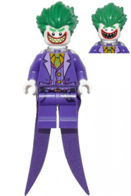 DC Universe Super Heroes The LEGO Batman Movie The Joker Minifigure [Long Coattails, Smile Loose]