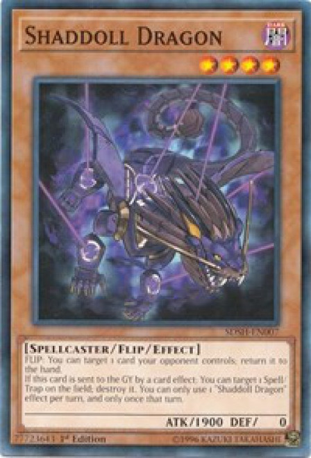 YuGiOh Shaddoll Showdown Structure Deck Common Shaddoll Dragon SDSH-EN007
