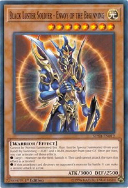 YuGiOh Shaddoll Showdown Structure Deck Common Black Luster Soldier - Envoy of the Beginning SDSH-EN012