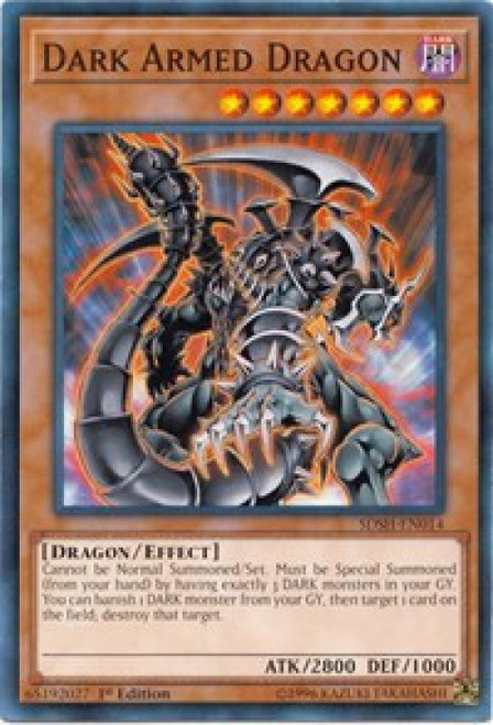 YuGiOh Shaddoll Showdown Structure Deck Common Dark Armed Dragon SDSH-EN014