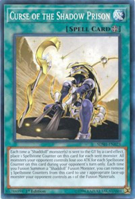 YuGiOh Shaddoll Showdown Structure Deck Common Curse of the Shadow Prison SDSH-EN023