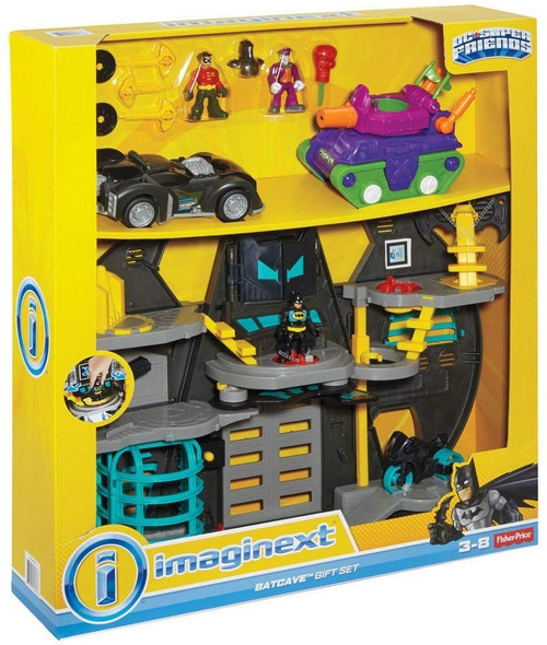 Fisher Price DC Super Friends Imaginext Batcave Gift Set 3-Inch Figure Set