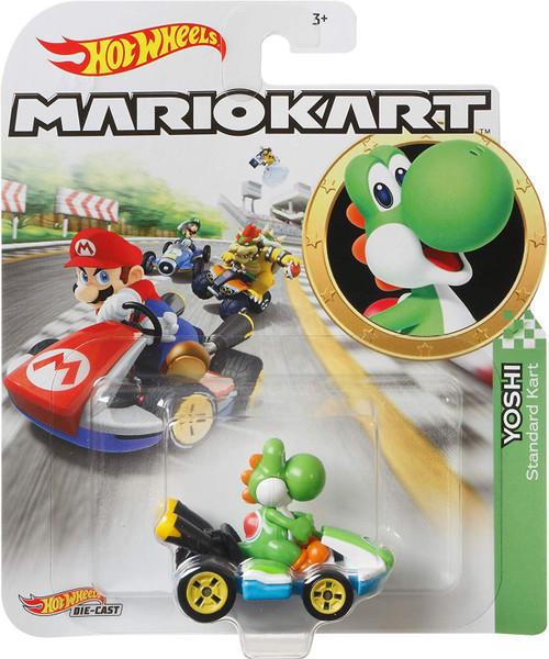 Hot Wheels Mario Kart Yoshi Diecast Car [Standard Kart]