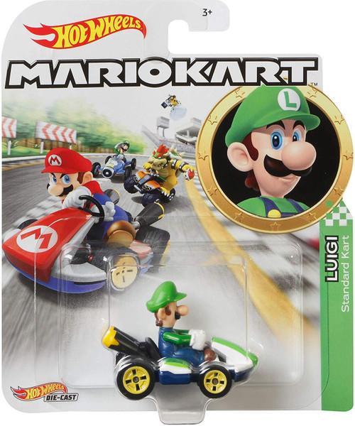 Hot Wheels Mario Kart Luigi Standard Kart Diecast Car