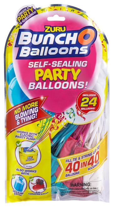 Bunch O Balloons 24-Pack [Pink, Teal & White]