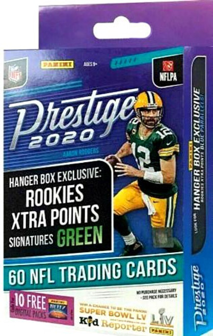 NFL Panini 2020 Prestige Football Trading Card HANGER Box [60 Cards]