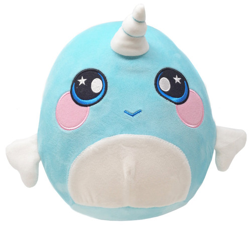 Squeezamals Series 2 Narwhal 8-Inch Plush Figure